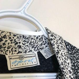 Vintage Pants - Vintage Floral Print Black & White Romper 6